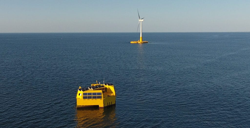 Offshore ecological hydrogen
